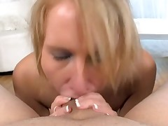 Sexy sweetheart is nice-looking dude with wicked oral job