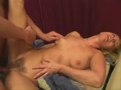 Hairy mature and the young man get it on